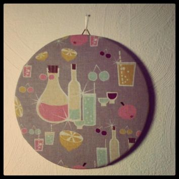 """Cocktails"" pin board"