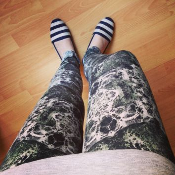 Marble leggings, cotton jersey with Elastane