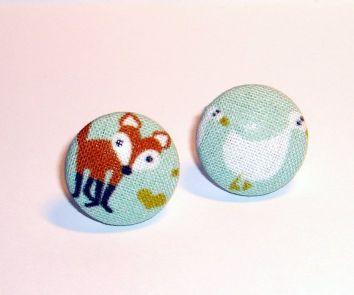 fox buttons, quilting weight cotton