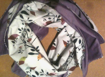 Autumn Loop Scarf, Quilting weight cotton