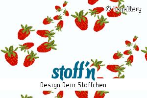 """Motiv: """"Erdbeeren"""", ©bsgallery, www.stoffn.de"""