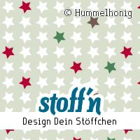 """Motiv: """"sterne_weihnachten"""", ©Hummelhonig, www.stoffn.de"""
