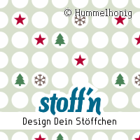 """Motiv: """"punkte_weihnachten"""", ©Hummelhonig, www.stoffn.de"""