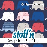 "Motiv: ""elefanten"", ©Hummelhonig, www.stoffn.de"