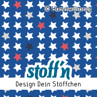 "Motiv: ""sterne_blau_rot"", ©Hummelhonig, www.stoffn.de"
