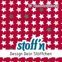 """Motiv: """"sterne_weihnachten_rot"""", ©Hummelhonig, www.stoffn.de"""