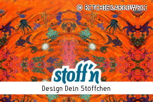 "Motiv: ""save ocean - eve & ritchie draw with acrylic"", ©RITCHIEKARKOWSKI, www.stoffn.de"