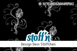 "Motiv: ""floral draw - black"", ©RITCHIEKARKOWSKI, www.stoffn.de"