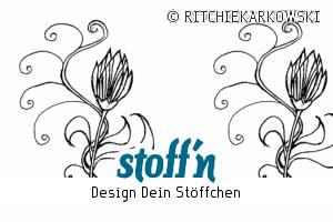 "Motiv: ""floral draw - white"", ©RITCHIEKARKOWSKI, www.stoffn.de"