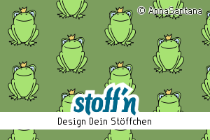 "Motiv: ""Froschli Lio"", ©AnnaSantana, www.stoffn.de"